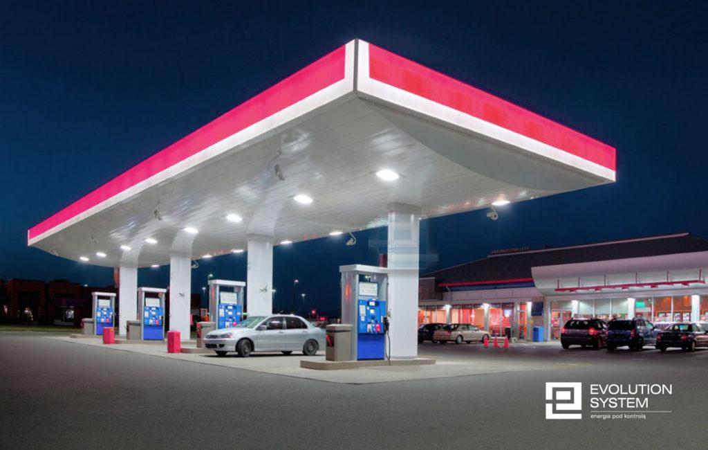 kontrola zużycia energii na stacji paliw