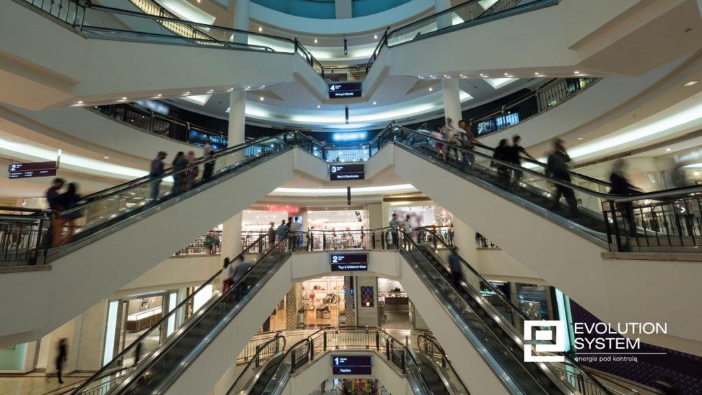 centra handlowe- kontrola zużycia energii